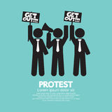 Group Of Protester Graphic Symbol Stock Images