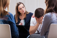Group psychotherapy Royalty Free Stock Photo