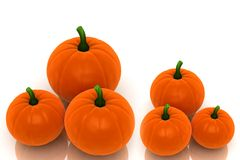 Group of pumkins Stock Image