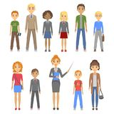 Group of pupils of different races Stock Image