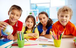 Group of pupils Stock Image