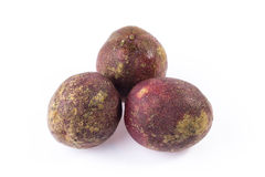 Group of Purple passionfruit Stock Photography