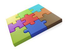 Group of puzzles Royalty Free Stock Photography