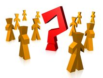 Group With Question Mark Stock Image