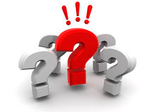Group of questions Royalty Free Stock Photography