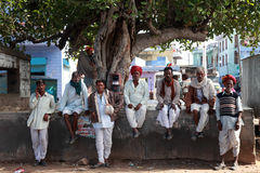 A group of  Rajastani Villagers Royalty Free Stock Images