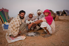 Group of rajasthani men at morning Royalty Free Stock Photos