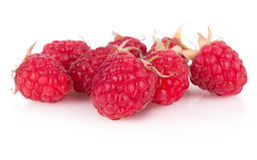 Group of raspberries on white background Royalty Free Stock Images
