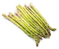 Asparagus. Group of raw asparagus isolated on white background Stock Photography