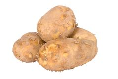 Group of raw potatoes Stock Photo