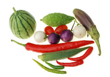 Group of raw vegetable Royalty Free Stock Image