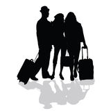 Group is ready to travel Stock Photography