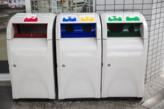 A group of recycle bins Stock Photo