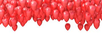 Group of red balloons. 3d illustration Stock Photo