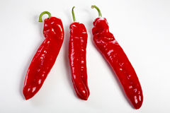 A group of red bell peppers Stock Photography