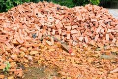 Group of red bricks Stock Photos