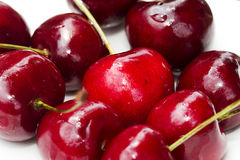 Group of Red Cherries Royalty Free Stock Images