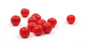 Group of red cherry sour balls Stock Photo