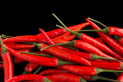 Group of red chili peppers Stock Photography