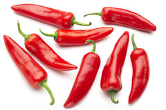 Group of red chilies Stock Photos