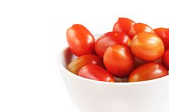 Group of red color ripe organic cherry tomatoes Stock Photography
