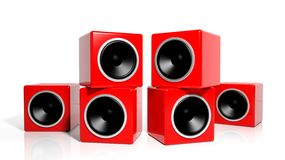 Group of red cubes Royalty Free Stock Photos