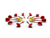 Group of Red Dart Arrows Stock Photos
