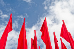 Group of red flags Royalty Free Stock Image