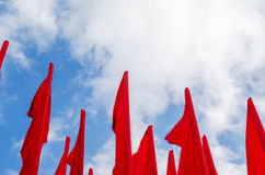 Group of red flags Stock Images