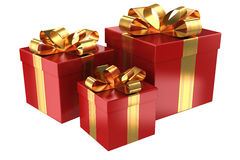 Group of red gifts Royalty Free Stock Photo