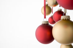 Group Of Red And Gold Decorations Royalty Free Stock Photography