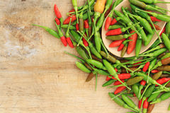 Group of Red green and brown Chili Royalty Free Stock Photography