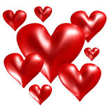 Group of red hearts Royalty Free Stock Photos