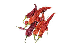 Group of the red hot chili peppers Stock Photo