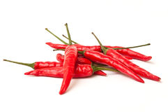 Group of red hot peppers Royalty Free Stock Photos