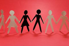 Group on red I royalty free illustration
