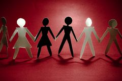 Group on red II Royalty Free Stock Images