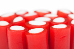 Group of red licorice sticks Stock Image