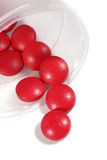 Group of red medicine pills Royalty Free Stock Image