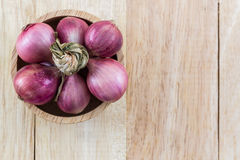 Group of red onion. Royalty Free Stock Photos