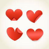 Group of red paper hearts Royalty Free Stock Images