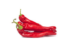Group of red peppers Stock Photo