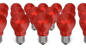 Group of red reflective light bulbs Stock Image