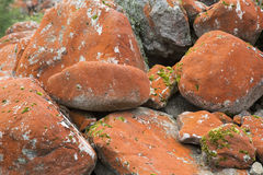 Group red rocks background Royalty Free Stock Image