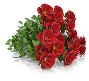 Group of red roses. Render on a white background Royalty Free Stock Photography