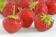 Group of red strawberries Royalty Free Stock Images