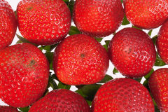 Group of red strawberries isolated on white background Royalty Free Stock Image