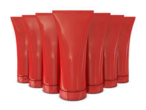 Group of red tubes packs Royalty Free Stock Photography