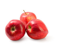 Group of red Washington apple clipping path. Royalty Free Stock Photography
