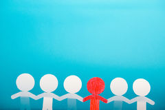 A group of red and white paper people Royalty Free Stock Images